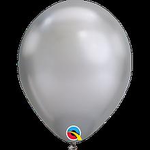 """Латексна кулька хром срібло 11"""" / 28см Silver Qualatex (США)"""