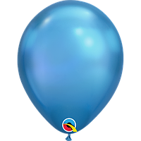 "Латексна кулька хром синій 11"" / 28см Blue Qualatex (США)"