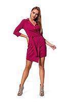 Стильное платье малинового цвета