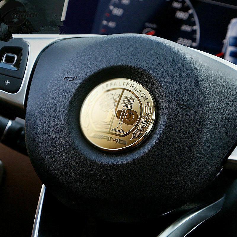Эмблема шильдик Наклейка Mercedes на руль A,AMG GT,B,C,CLA,CLC,CLK,CLS,GLA, GLC,GL,GLE,GLK,GLS,M,S,SLC,SL