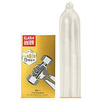 Презервативы с эффектом проолонгации, увеличенным количеством смазки Elasun Iron Man, золотистые 10 шт