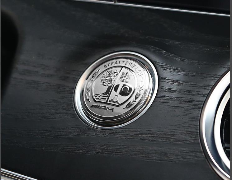 Эмблема шильдик Наклейка Mercedes на старт/стоп A,AMG GT,B,C,CLA,CLC,CLK, CLS,GLA,GLC,GL,GLK,GLS,M,S,SLC,SL