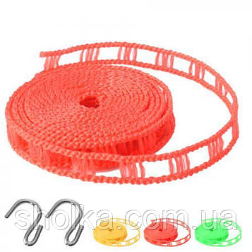 Веревка для белья для крючков 3м