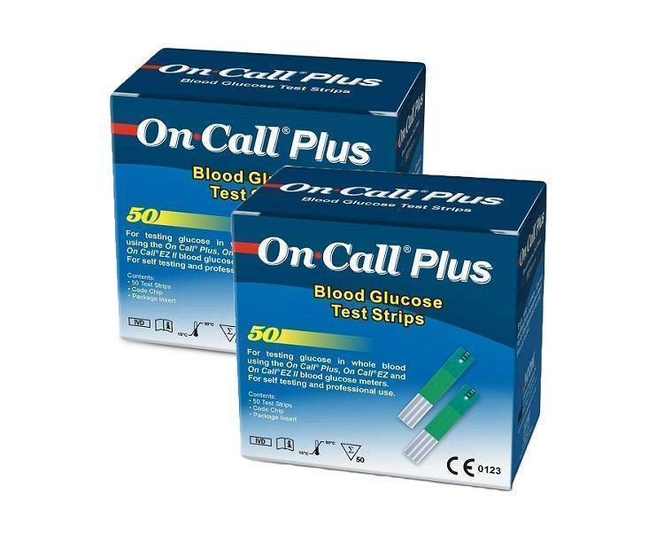 2 упаковки-Тест полоски On Call Plus (Он Колл Плюс) - 50 шт!!  07.08.2021 г.!!!
