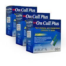 3 упаковки-Тест полоски On Call Plus (Он Колл Плюс) - 50 шт!! 07.08.2021 г.!!!