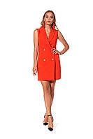 Короткое женское платье в деловом стиле красное