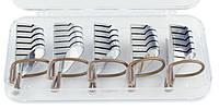 Формы для наращивания ногтей тефлоновые 5шт. (многоразовые) нижние серебристые