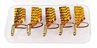 Формы для наращивания ногтей тефлоновые 5шт. (многоразовые) нижние золотые