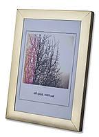 """Фоторамка из Алюминия """"золото"""" глянец 3,0 см. Для грамот, дипломов, сертификатов, фото, плакатов, постеров."""