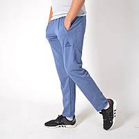 Мужские спортивные штаны Adidas (Адидас) / Трикотаж двухнитка / Размеры 44,46,48,50,52,54 / светло-синие