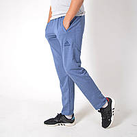 Удобные мужские штаны для дома и спорта / Трикотаж двухнитка / Размеры 44,46,48,50,52,54 / светло-синие