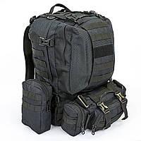 Рюкзак тактический рейдовый SILVER KNIGHT 55 литров черный TY-213