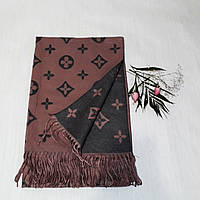 Женский шарф Louis Vuitton (Premium-class) коричнево-черный