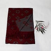 Женский шарф Louis Vuitton (Premium-class) бордово-серый