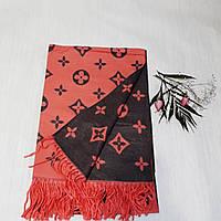 Женский шарф Louis Vuitton (Premium-class) красно-черный