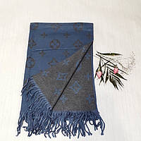 Женский шарф Louis Vuitton (Premium-class) сине-серый