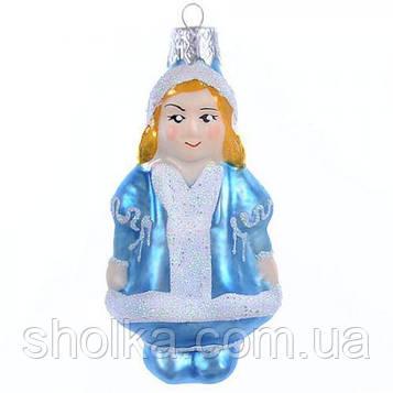 """Елочная игрушка стеклянная """"Снегурочка"""""""