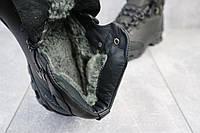 Мужские кроссовки кожаные зимние черные Shark B 180