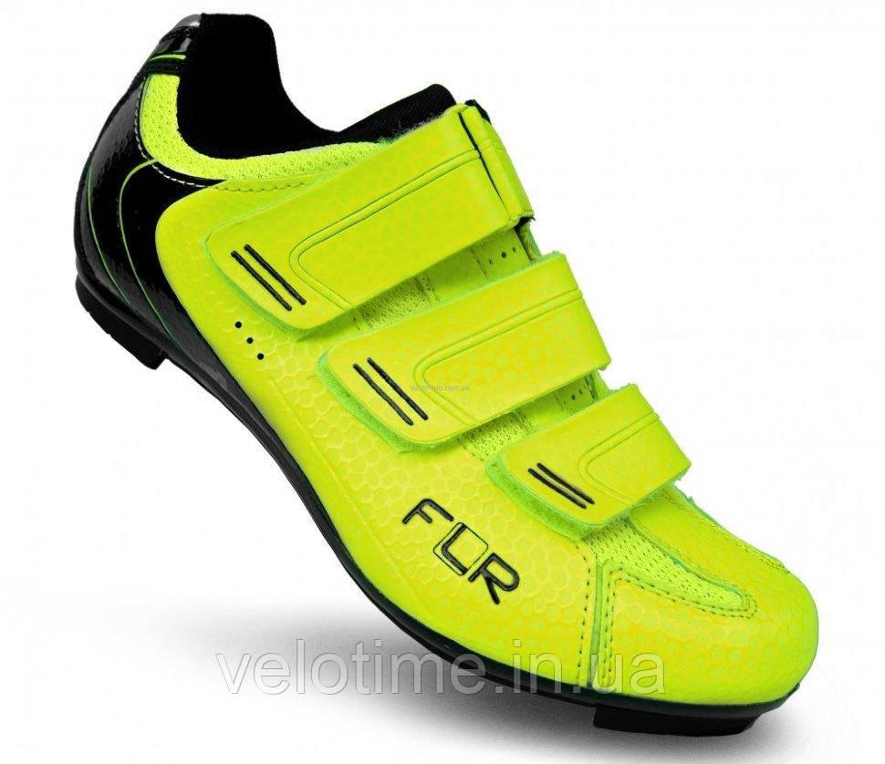 Велосипедные туфли шоссе FLR F-35  (36р., желтый)