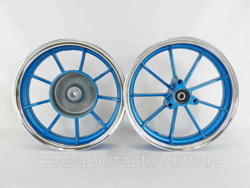 Диски Yamaha 2,15-10 титановые передний+ задний (синие)