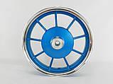 Диски Yamaha 2,15-10 титановые передний+ задний (синие), фото 3