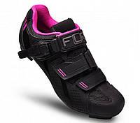Велосипедные туфли шоссе FLR F-15  (36р., черный-розовый)