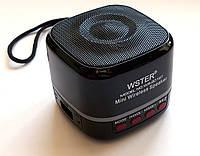 Портативная колонка WSTER WS-201BT с bluetooth, Black