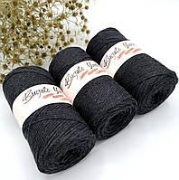 Эко шнур Cotton Macrame Large 2 mm,цвет Графит