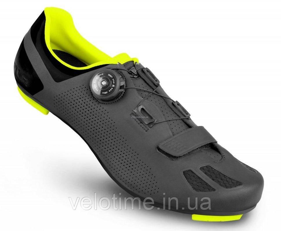 Велосипедные туфли шоссе FLR F-11 (43р., черный-желтый)