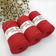 Эко шнур Cotton Macrame Large 2 mm,цвет Клубничный