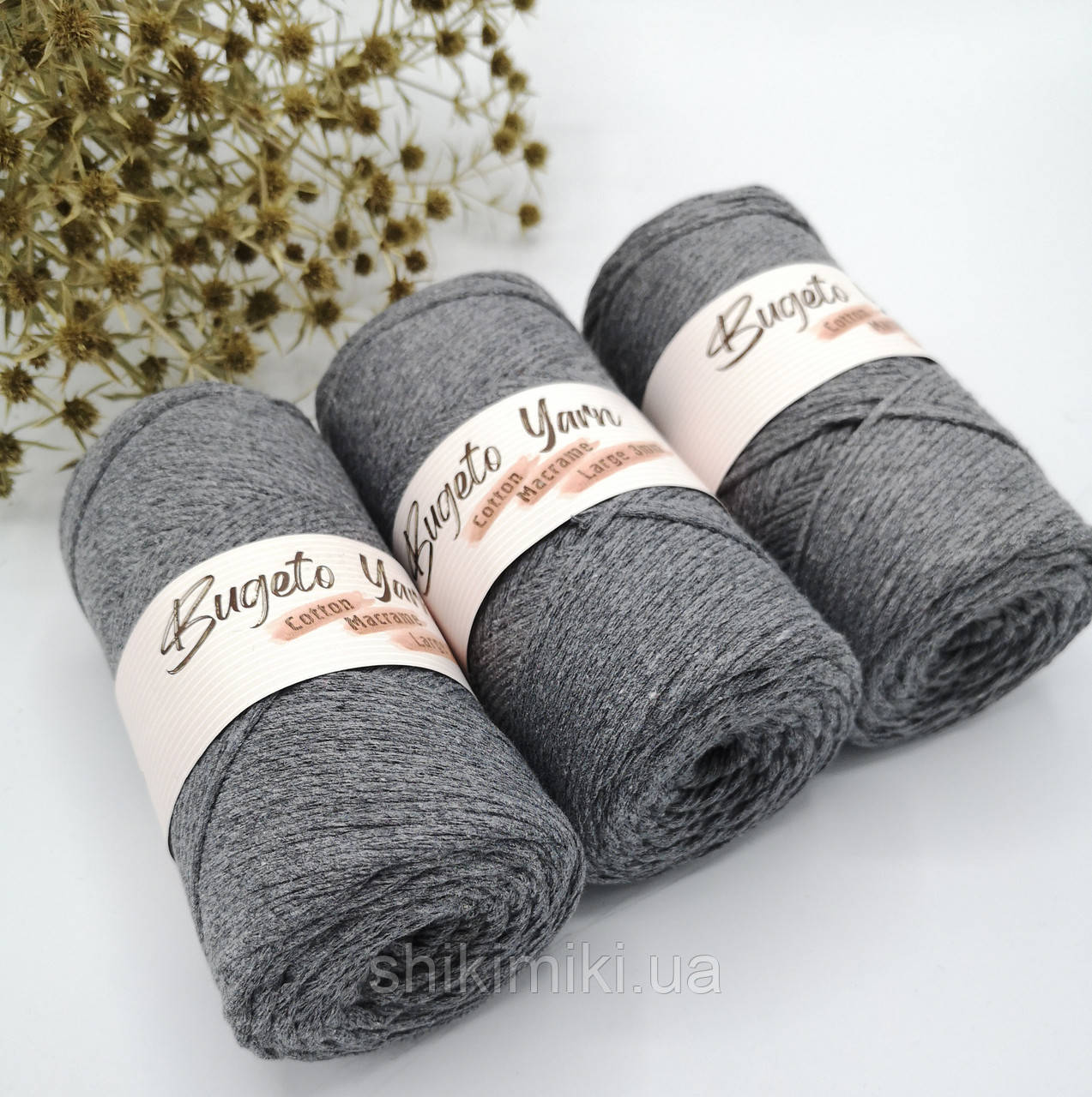 Эко шнур Cotton Macrame Large 2 mm,цвет Серый