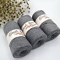 Эко шнур Cotton Macrame Large 2 mm,цвет Серый