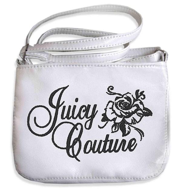 """СУМОЧКА """"МINI"""" - №230 """"Juicy CoutureCouture"""" (роза) - белая"""
