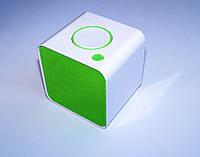 Портативная колонка MUSIC BT-19 Bluetooth, белый с зеленым