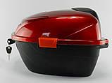 Кофр неломающийся красный глянцевый с катафотом, фото 2