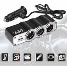 Автомобільний розгалужувач трійник WF-0120 з USB