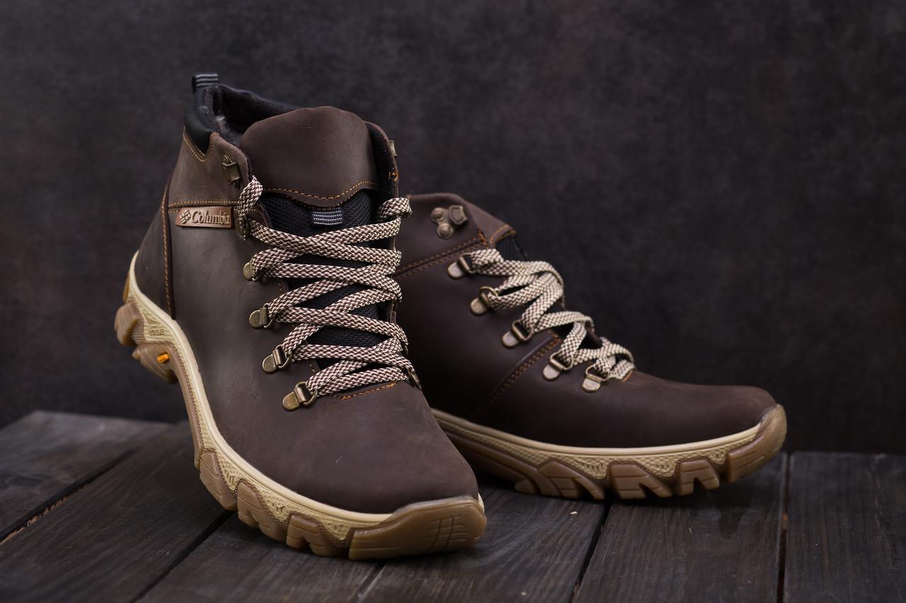 Мужские ботинки кожаные зимние коричневые Twics К2