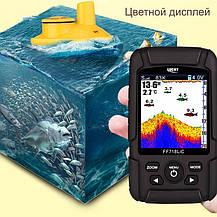 Эхолот c литиевой батареей Lacky FF718Li три трансдюсера  3 в1, цветной экран ( FF718LICD ), фото 3