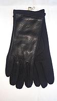 Перчатки женские трикотаж+эко-кожа ( р-ры 6.5 - 8.5 )