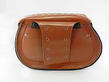 Кофры-сумки боковые мото большие, пара, (коричневые), фото 2