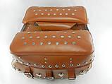 Кофры-сумки боковые мото большие, пара, (коричневые), фото 3