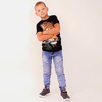 Джинсы на мальчика на резинке ( р-ры 5 - 8 лет )