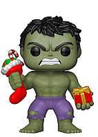 Фигурка Фанко Халк Новогодний №398 Marvel Hulk with Stocking Funko 33984