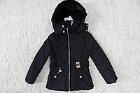 Демисезонная куртка ( Синтепон- мех) 4 лет.Польша цвет черный
