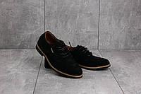 Подростковые туфли замшевые весна/осень черные Yuves М5 (Trade Mark), фото 1