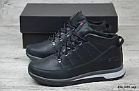 Мужские кожаные зимние ботинки Fila (Реплика) (Код: Fila101чер  ) ►Размеры [40,41,42,43,44,45], фото 1