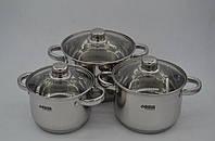 Набор посуды кастрюль из 6 предметов Benson BN-205
