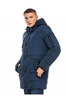 Мужская зимняя удлиненная  куртка 56, синий