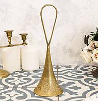 Коллекционный латунный колокольчик, латунь, Индия, без языка, фото 1