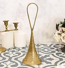 Коллекционный латунный колокольчик, латунь, Индия, без языка
